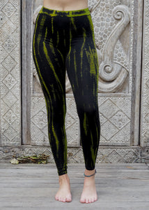 Tie dye Leggings- Icicle Lime Green