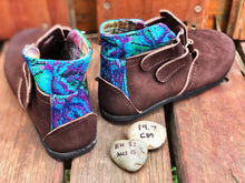 Load image into Gallery viewer, Size 13 Kids Adventure Boots Purple and Blue Embroidery