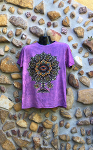 Large Funky Tee - Eye in a Flower - Pinky Purple