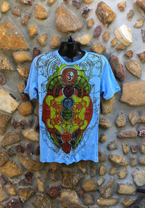 Large Funky Tee - Chakra - Light Blue