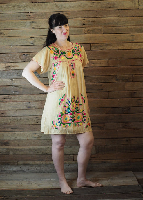 Little Frida shift Dress - Cream