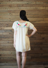 Load image into Gallery viewer, Little Frida shift Dress - Cream and Brights