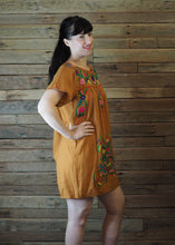 Load image into Gallery viewer, Little Frida shift Dress - Dark Mustard