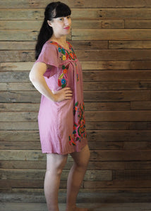 Little Frida shift Dress - Dusty Pink