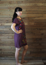 Load image into Gallery viewer, Little Frida shift Dress - Eggplant