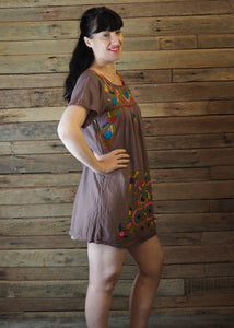 Little Frida shift Dress - Latte