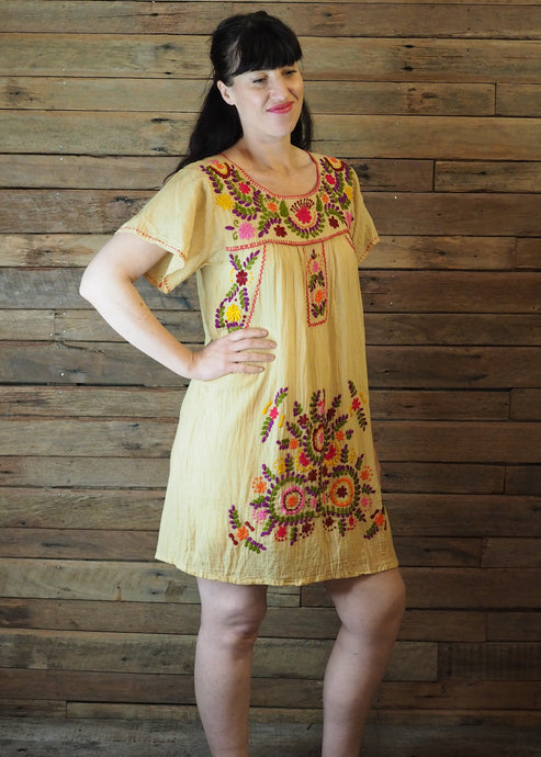 Little Frida shift Dress - Lemon