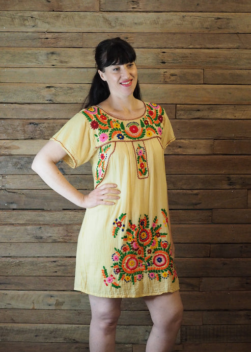 Little Frida shift Dress - Lemon Brights