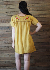 Little Frida shift Dress - Mustard