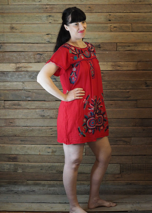 Little Frida shift Dress - Red