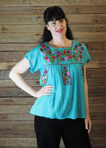 Little Frida Top - Blue