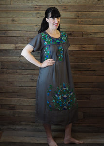 Long Frida Dress Charcoal