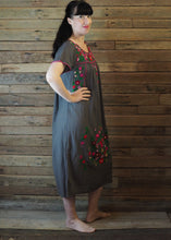 Load image into Gallery viewer, Long Frida Dress Charcoal and Pink