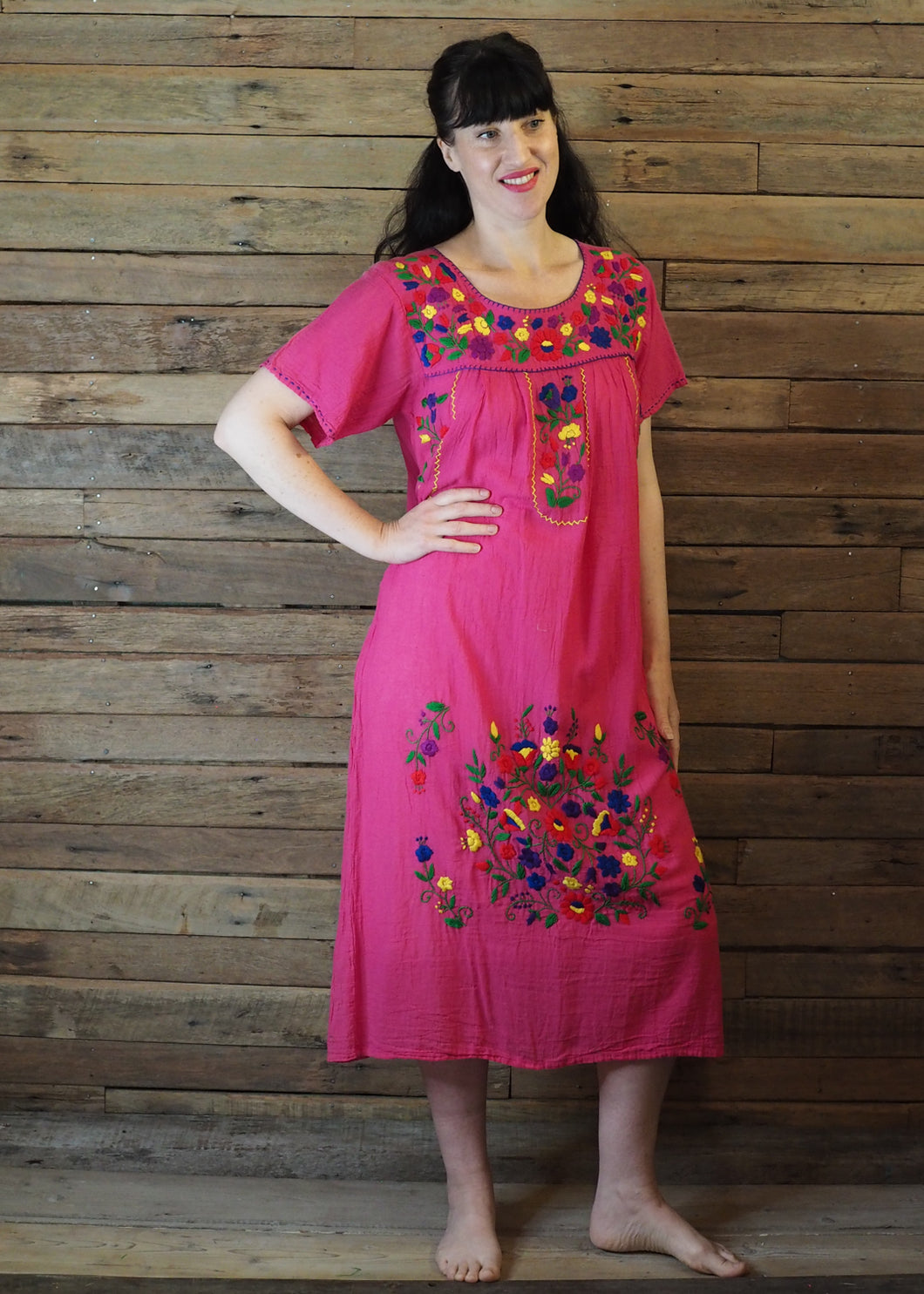 Long Frida Dress Hot Pink