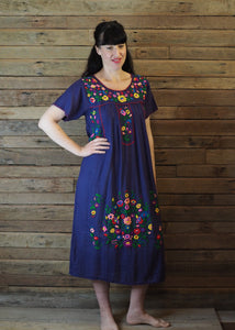 Long Frida Dress Navy
