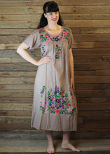 Load image into Gallery viewer, Long Frida Dress Taupe and Pink