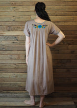 Load image into Gallery viewer, Long Frida Dress Taupe and Blue
