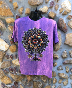 Medium Funky Tee - Eye in a Flower - Pinky Purple