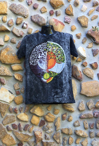 Medium Funky Tee - Moon Sun Tree - Black