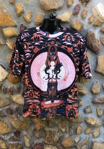 Medium Funky Tee - White Tara - Full Print