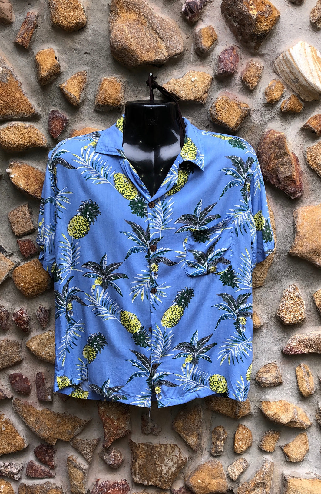 Medium Love Shirt - Pineapples on Blue