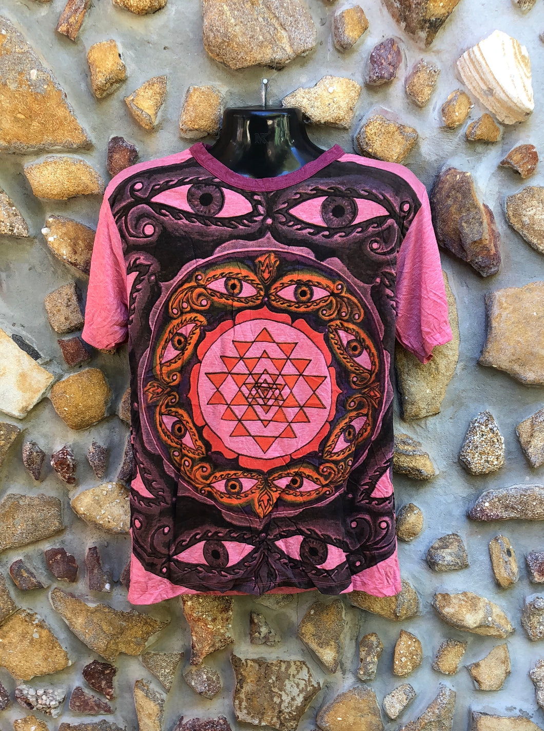 Medium Funky Tee - Eye Mandala - Pink