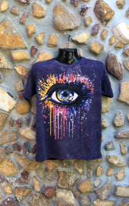 Medium Funky Tee - Paintbomb Eye - Purple