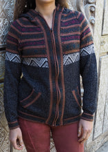 Load image into Gallery viewer, Medium - Charcoal Bolivian Alpaca Cardigan
