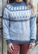 Load image into Gallery viewer, Medium - Speckled Grey Feather Knitted Bolivian Alpaca Jumper