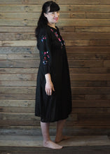 Load image into Gallery viewer, Mexicana Loose Dress Black with Pink