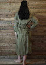 Load image into Gallery viewer, Mexicana Loose Dress Moss Green