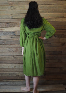 Mexicana Loose Dress Pear Green