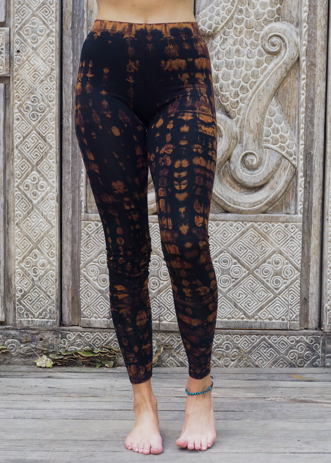 Tie dye Leggings- Mottled Copper
