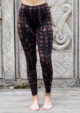 Load image into Gallery viewer, Tie dye Leggings- Mottled Mocha and Black