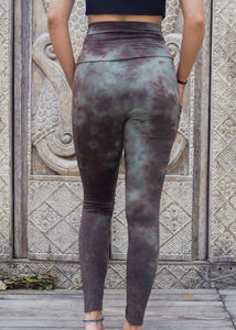 Pocket Leggings - Olive Stonewash