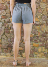 Load image into Gallery viewer, Paper-Bag Waist Cotton Shorts - Grey