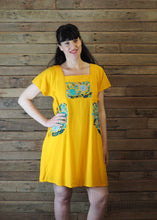 Load image into Gallery viewer, Pinafore Pocket Dress Canary Yellow