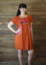 Load image into Gallery viewer, Pinafore Pocket Dress Tangerine and Pink