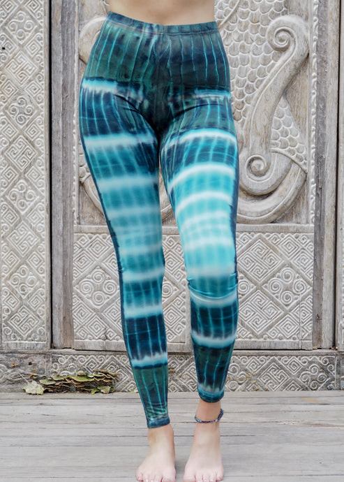 Tie dye Leggings- Blue Rivers