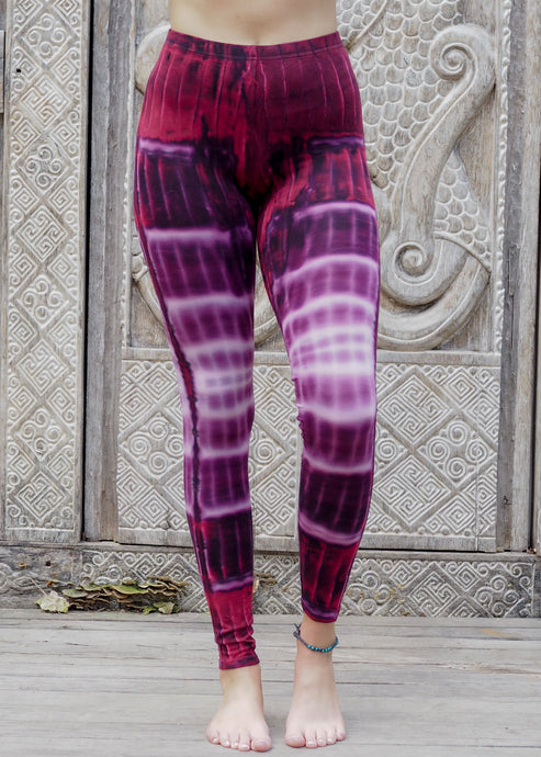 Tie dye Leggings- Purple Rivers