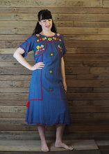 Load image into Gallery viewer, Romina Maxi Dress in Blue and Crimson