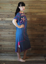 Load image into Gallery viewer, Romina Maxi Dress in Blue and Hot Pink