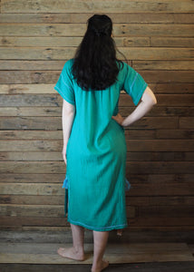 Romina Maxi Dress in Emerald and Blue