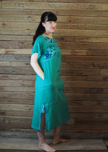 Load image into Gallery viewer, Romina Maxi Dress in Emerald and Blue
