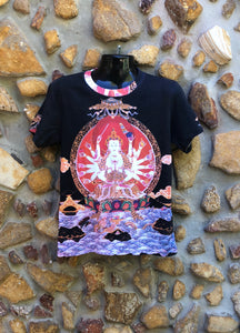 Small Funky Tee - Buddha on Waves - Full Print