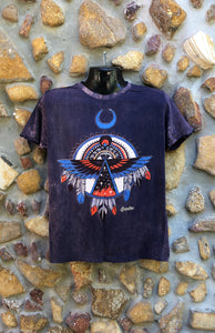 Small Funky Tee - Eagle Totem - Purple