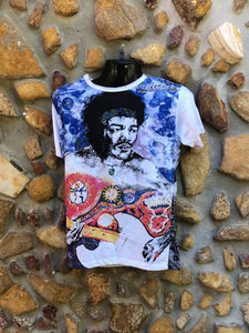 Small Funky Tee - Jimmy Hendrix - White