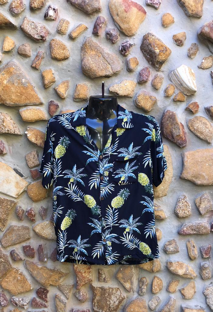 Small Love Shirt - Pineapples on Navy