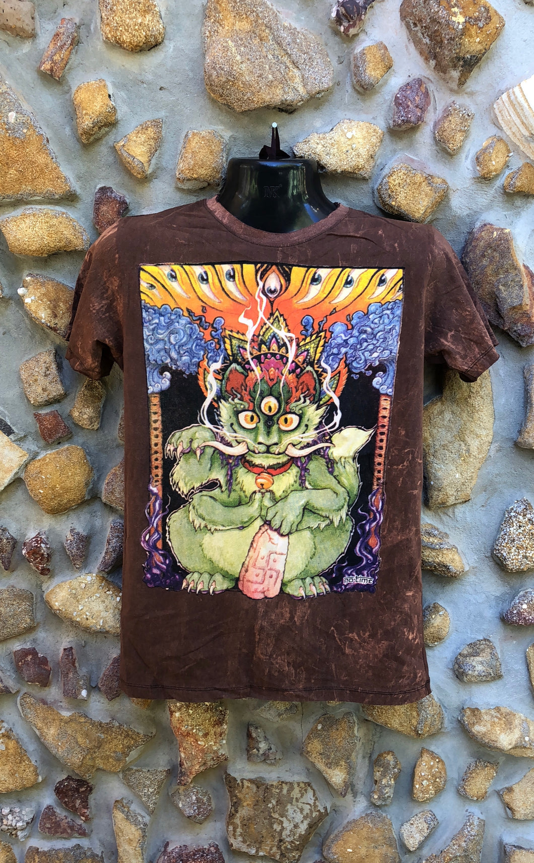 Small Funky Tee - Wild Cat - Brown