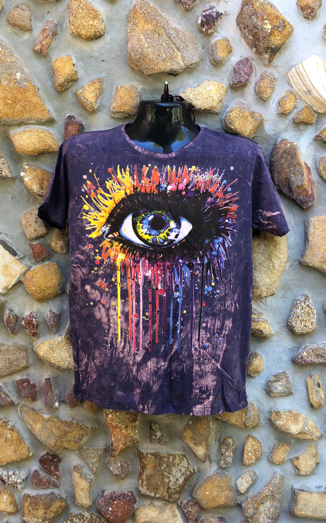 Small Funky Tee - Paintbomb Eye - Purple